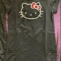 New Authentic Sanrio Hello Kitty Pynkiss Rhinestone Glitter Black Dress Sz 10 Photo