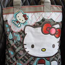 New Authentic Sanrio Loungefly Hello Kitty Large Fabric Tote Handabg Shoulderbag Photo