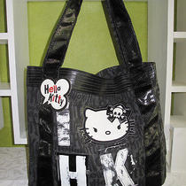 New Authentic Sanrio Loungefly Hello Kitty Large Tote Handabg Punk Skull Design Photo