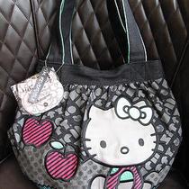 New Authentic Sanrio Loungefly Hello Kitty Reversible Denim Tote Handbag Nwt Photo