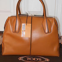 New Authentic Tod's Kenia Duffle Leather Shoulder Tote Bag(brown Retail1665) Photo