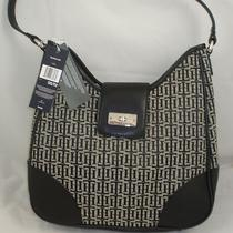 New Authentic Tommy Hilfiger Handbag Black Natural Purse Tote Hobo Photo