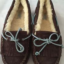 New Authentic Ugg Australia Women's Mandie Dark Brown Moc Slippers Size 6 120 Photo