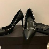 New Authentic Valentino Rockstud Pumps Size 36.5 Us 6.5 Noir Black Studs Photo