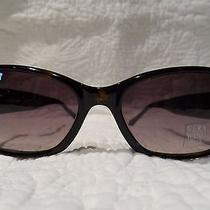 New Authentic Vera Wang Rectangular Tortoise Sunglasses With Carrying Pouch Photo
