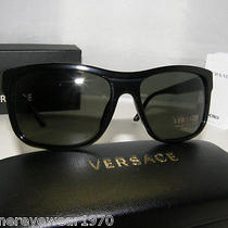 New Authentic Versace Polarized Sunglasses Ve 4179 Gb1/58  Ve4179 Made in Italy Photo
