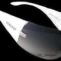 New Authentic Versace Sunglasses Ve 2054 Havana White Black 100613 10008g 100187 Photo