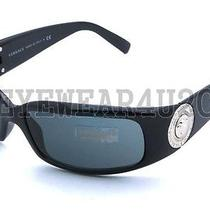 New Authentic Versace Ve 4044-B 4044b Gb1/87 Shiny Black Sunglasses  Photo