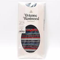 New Authentic Vivienne Westwood High Socks 090 Black 23-25 Cm Made in Japan Photo