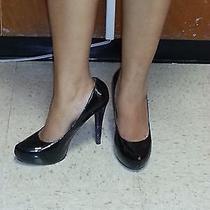 New Avon Black Shoe With Purple Heels of 5