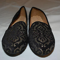 New Avon Cushion Walk Black/gold Flats Womens Sz 11 Shoes Loafers Dressy/casual Photo