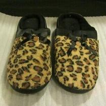 New Avon Ladies Leopard Fashion Print Memory Foam Clog Slipper  Small (5-6)  Photo