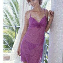 New Avon Ladies Nightie Chemise Matching Knickers Summer Holiday Plum 18-20 Photo