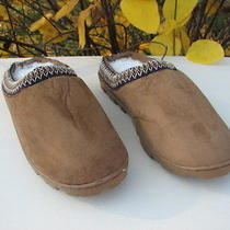New Avon Men's Suede-Like Upper Slipper Clog Plush  Faux Fur Lining  Photo