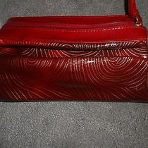 New   Avon Red Bag  Small Purse Make Up Bag Photo