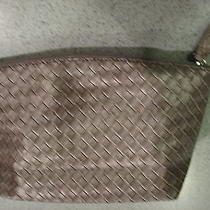 New Avon Silver Woven Vinyle Cosmetic Clutch Travel Bags Photo