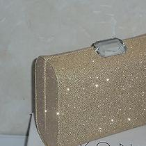 New Avon Sparkling Convertible Jewelry Clutch Goldtone  Photo