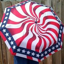 New Avon Star Spangled Umbrella Red White Blue Stars Flag Patriotic Americana  Photo