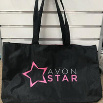 New Avon Star Tote Bag Event Carry All Black & Pink Logo Lot of Space & Pockets Photo