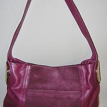 New B.makowsky Giamma Leather & Suede Hobo Bag With Hinge Hardware Mulberry Photo
