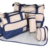 New Baby 5 Piece Set Mummy Bag Mother Bag Food Bag Feeding Bottle Bag Nappy Bag Photo