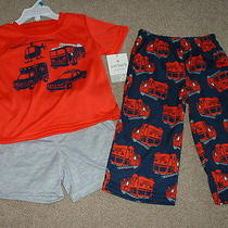 New Baby Boy Carters Rescue Pajamas 3pc Set Size 24 Months 24m 18-24 Clothes Nwt Photo