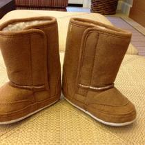 New Baby Faux Shearling & Suede Ugg Type Soft Bottom Baby Boots Sz 12-18  M Photo