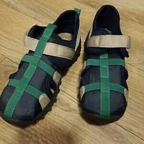 New Baby Gap Boys Shoes Sandals Blue Green Size 9/10 Photo