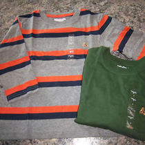 New Baby Gap Boys Size 3t Long Sleeve Tees Shirt Logo Pocket Solid Stripe Lot 2 Photo