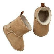New Baby Gap Girls 0-3 Mos Sherpa Suede Booties Photo