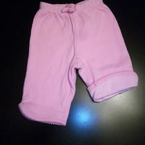 New Baby Gap Girls Size 0-3 Months Pink Reversible Pants Logo Pocket Clothing Photo