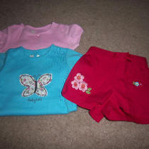 New Baby Gap Girls Size 0-3 Months Shirt Bodysuits Shorts Set Infant Clothing Photo