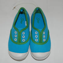 New Baby Gap Shoes Size 10  Blue Green  Color Pop Aqua Slip on Tennis Shoe Photo
