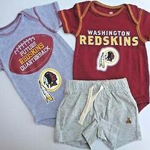New Baby Gap Shorts Washington Redskins Romper Bodysuit Nfl Sports Boys 0-3m 3m  Photo