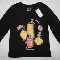 New Baby Gap Toddler Girls 4t Perfume Bottles Black Long Sleeve Cotton Shirt Photo