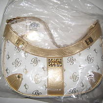 New Baby Phat White Gold Leather-Like Bag Photo