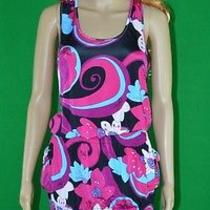 New Baby Phat Womens Black Pink Blue White Geometric Sexy Sleeveless Dress Sz S Photo
