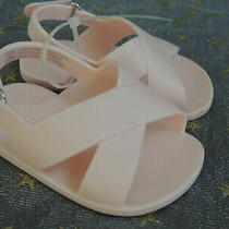 New Baby Shoe Size 2 (3-6 Mth)  Old Navy  Blush on You Rubber Sandals Jellies Photo