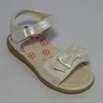 New Baby Toddler Girls Ivory Sandals Size 4 Dressy Casual Easter Fancy  Photo