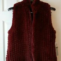 New Bagatelle for Neiman Marcus Red Faux Fur Women's Vest Large Photo
