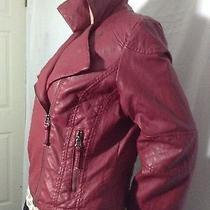New Bagatelle Motocycle Jacket Sz Largewinevegan Leather Photo