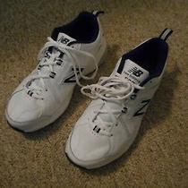 New Balance 608 Men's White Leather Athletic Walking Shoes Size 8.5 4e Photo