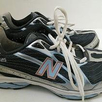 New Balance 645 Running Training Shoes Women 7.5 Silver/blue/white Wr645sg Nfuse Photo
