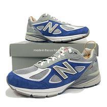 New Balance 990 V4 Red Blue Grey Athletic Running Shoes Size 11 M990ga4 Photo