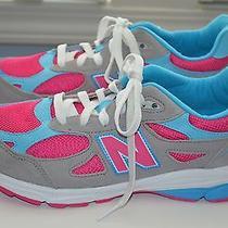 New Balance 990 Womens Running Shoes Gray Blue Pink Kj990smg Size 6.5 Photo