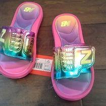 New Balance Girls Rainbow Slide Sandals Kids Size 12  Photo