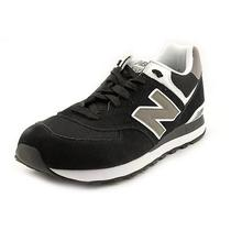 New Balance M574 Mens Size 10 Black Suede Athletic Sneakers Shoes Photo