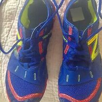 New Balance Minimus Womens Red/blue Vibram Trail Running Shoe Size 7.5 Vguc Photo