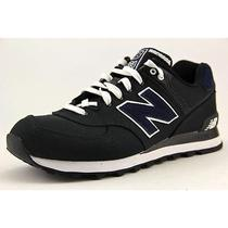 New Balance Ml574 Mens Size 8.5 Black Wide Textile Athletic Sneakers Shoes Used Photo