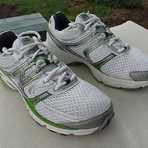 New Balance Performance Running Shoes Sneakers White & Green Size 9 Photo